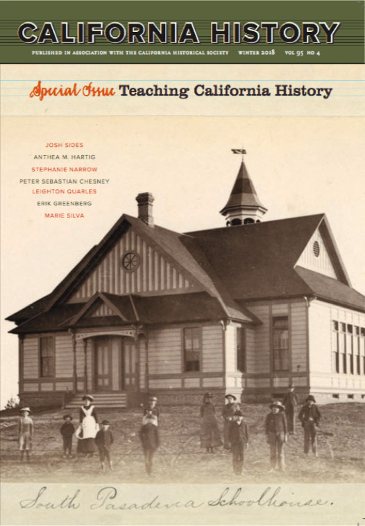 Cover of California History, Volume 95, No 4